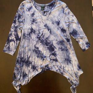 Rue+ blue tie dye tunic
